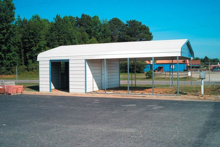 Free standing metal carports metal carports carport kits for Carport with storage shed attached